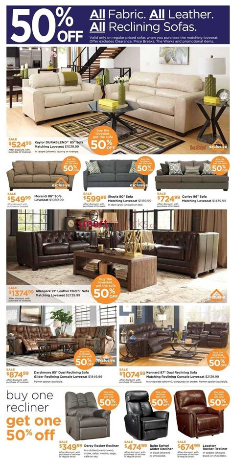furniture homestore on weekend sale flyer