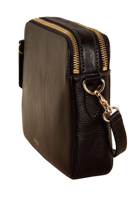 fossil sydney crossbody black from omaha by material