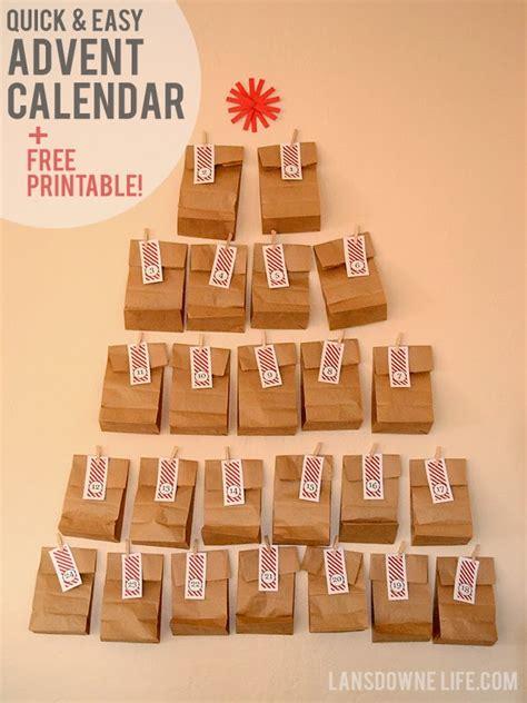 diy printable advent calendar last minute diy advent calendar free printable number