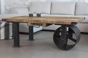 Industrial Coffee Table On Wheels Industrial Design Finds From Furniture To Accessories