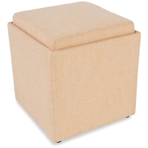 yellow ottoman yellow storage ottoman with tray 4a1 06y jgw furniture d