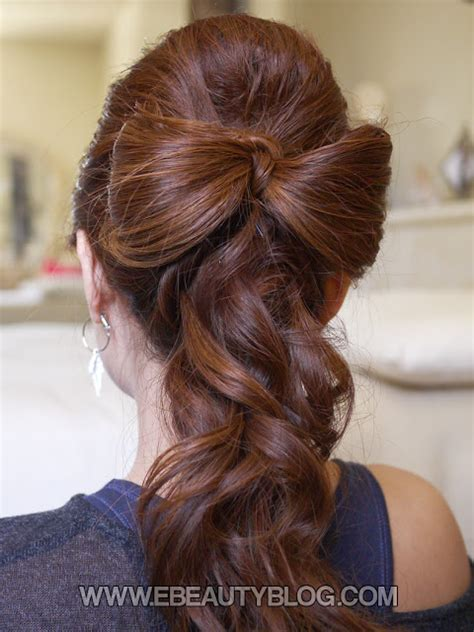 Bow Hairstyle Tutorial by Ebeautyblog Beautiful Wedding Hair Bow Tutorial