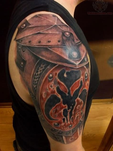 viking armor tattoo viking shoulder armor