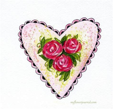 watercolor heart tutorial watercolor hearts and roses my flower journal