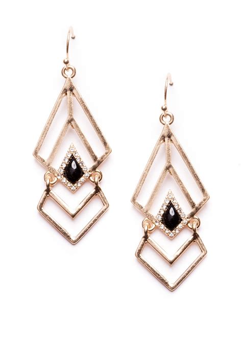 Geometric Earrings aztec goddess geometric earrings happiness boutique