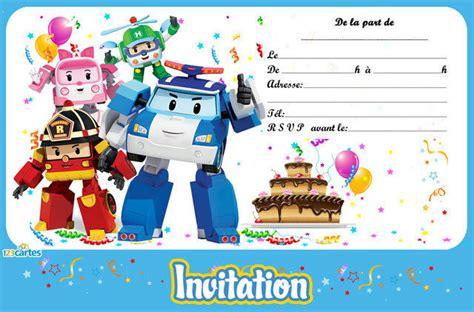 Robocar Poli Cartes Et Invitations Gratuites 123 Cartes