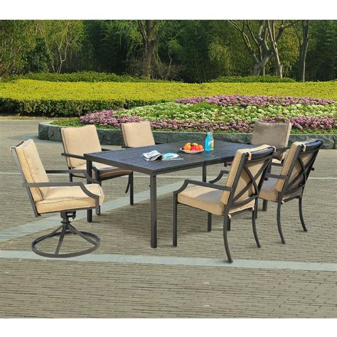 sunjoy patio furniture sunjoy hudson 7pc dining set outdoor living patio