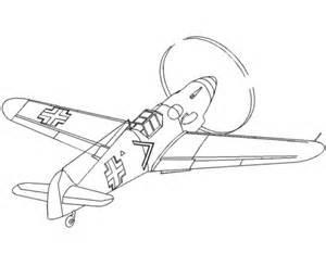 fighter aircraft drawings amd coloring sheets messerschmitt bf 109