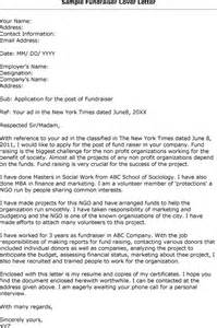 Fundraising Cover Letter by Charity Fundraiser Cover Letter Exle Drugerreport732