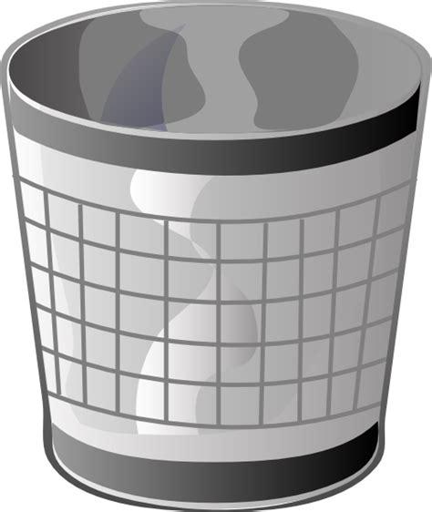 Tempat Sah Keranjang Dustbin Basket empty trash bin clip at clker vector clip royalty free domain