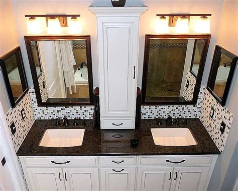 bathroom countertop storage cabinets bathroom double countertop with wall storage cabinet
