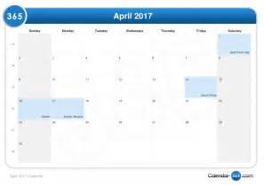 Calendar 2018 Aprilie April 2017 Calendar