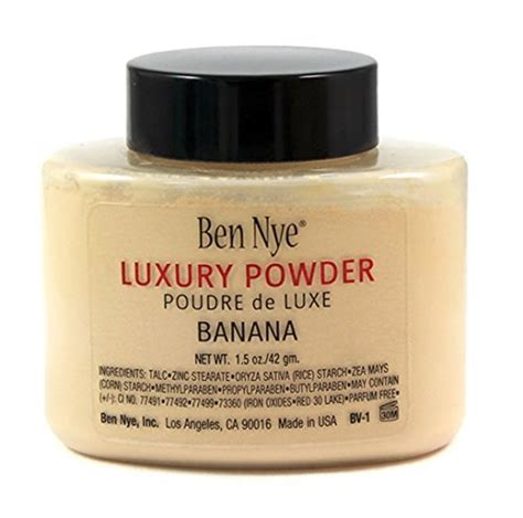 Ben Nye Banana Luxury Powder 1 5oz ben nye banana luxuary powder 1 5oz bottle authentic