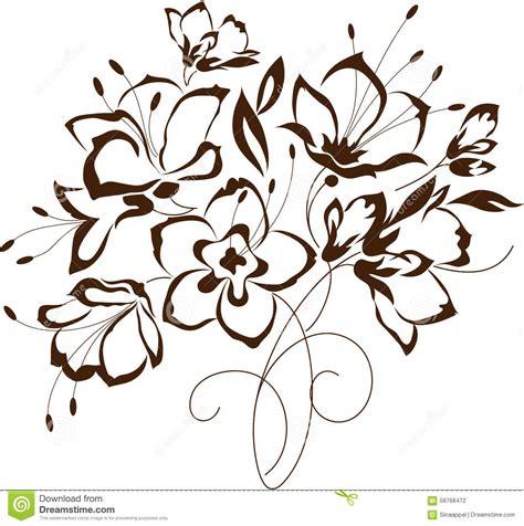 fiori stilizzati vettoriali progettazione floreale mazzo dei fiori stilizzati