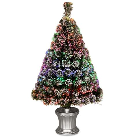 3 ft fiber optic xmas tree national tree company 7 1 2 ft valley spruce hinged artificial tree nrv7 500 75