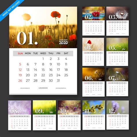 calendar  vector template design set   months template     pngtree