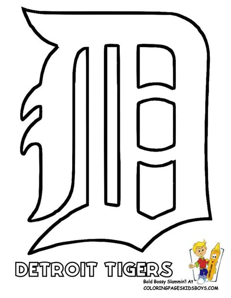 detroit tigers colors detroit tigers logo stencil baseball coloring sheet