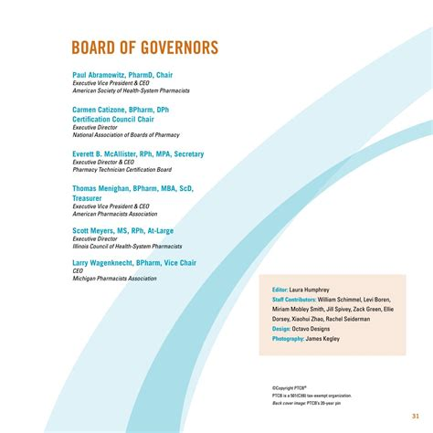 Mba S Residential Board Of Governors by 2015 Ptcb Progress Report Page By Page Format By