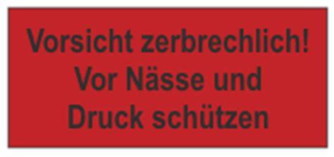 Paketaufkleber Zum Ausdrucken Kostenlos by Warnetiketten Vorsicht Zerbrechlich Vor N 228 Sse Und Druck