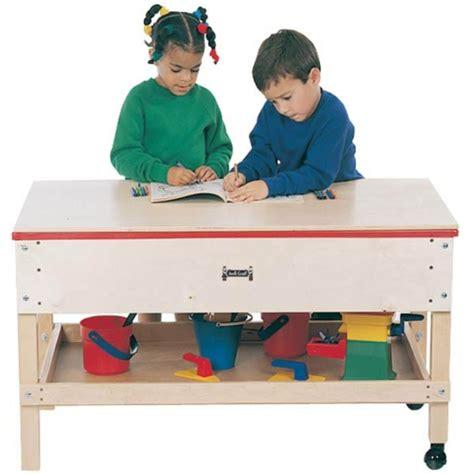 jonti craft toddler height sensory table w shelf 2866jc