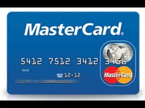 how to make master card credit card mastercard