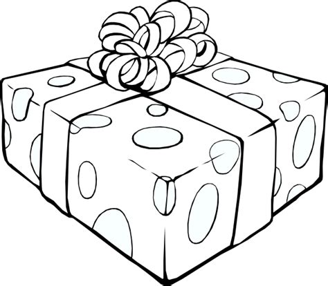 wrapped present coloring page ภาพระบายส กล องของขว ญ gift box coloring page