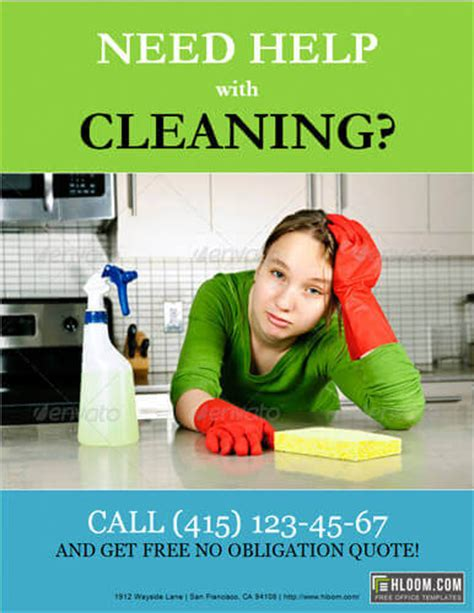 cleaning services advertising templates 14 free cleaning flyer templates house or business