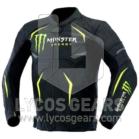 Monster Energy Motorrad by Monster Energy Motorcycle Leather Jacket Lycos Gears
