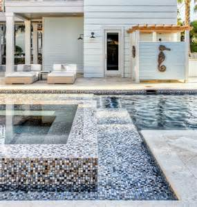 pool tile designs swimming pool with mosaic tiles cottage pool beach chic design