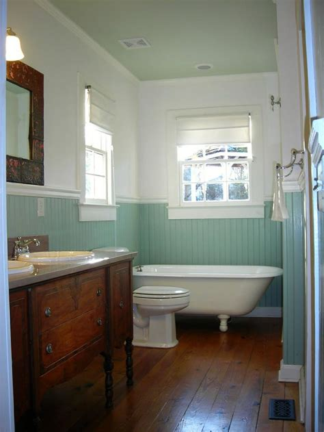 aqua bathrooms claw foot tub blue beadboard bathrooms pinterest