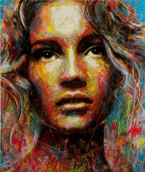 colorful portraits a beautiful colorful portrait in spray paint by