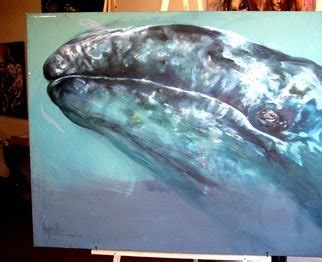Blue Whale By Savana Krupicka Animals Acrylic Paintings For Sale Buy Animals Artworks