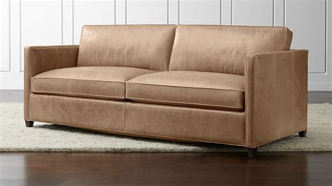dryden leather sofa crate and barrel
