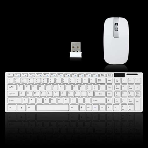 2 4g Wireless Mouse White Intl white 2 4g optical wireless keyboard and mouse usb