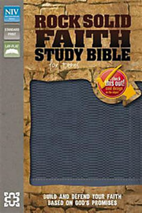 niv the s study bible imitation leather blue brown color receiving god s for balance and transformation books niv rock solid faith study bible for imitation