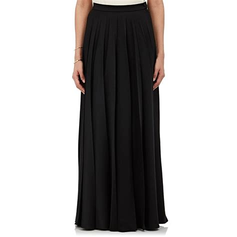 lanvin satin maxi skirt in black lyst