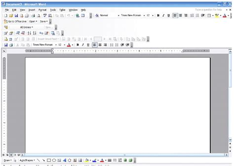 ms word microsoft word 2003 basic functions and navigation