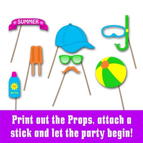 printable photo booth props summer 9 best images of fun photo booth printables printable