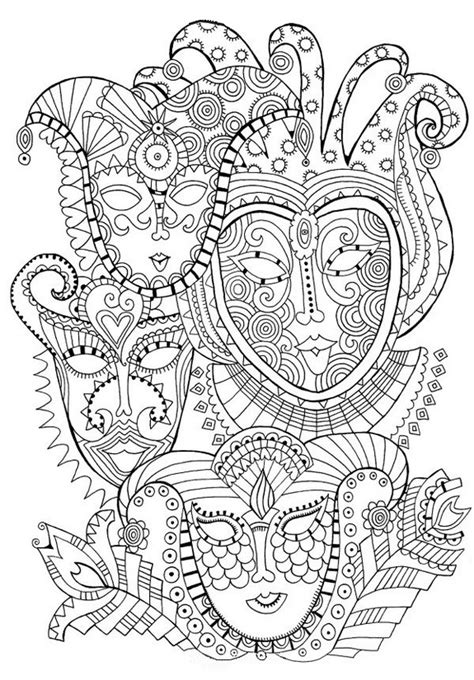color therapy an anti stress coloring book pdf coloriage adulte carnaval masques de carnaval 1