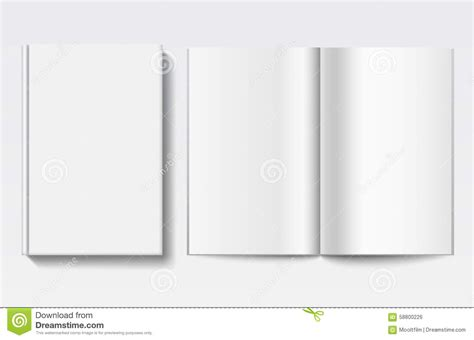 book template for pages white book template stock vector image 58800226