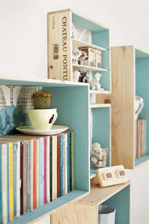 wooden crate shelves 39 wood crate storage ideas that will you organized in no time