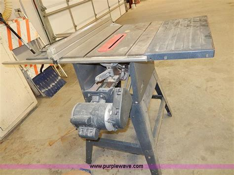 craftsman xr 2412 table saw craftsman 113 299315 10 quot table saw item ap9225 sold