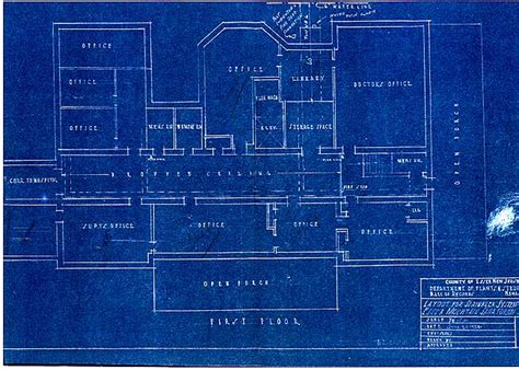 Blue Print Of House by Artifacts