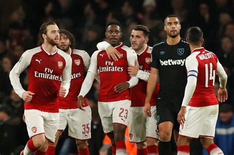 arsenal west ham carabao arsenal 1 0 west ham scrappy finish from welbeck sends