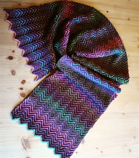 zickzack pattern zick zack scarf knitting pattern patterns valley