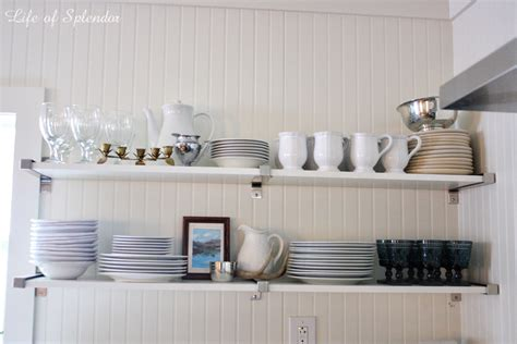 kitchen shelves open shelving in the kitchen and some updates thewhitebuffalostylingco com