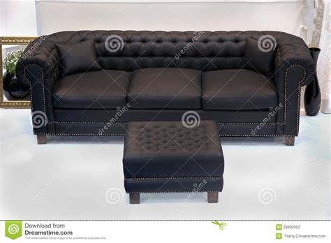 sofa with leg rest leather vintage sofa stock photo image of leather