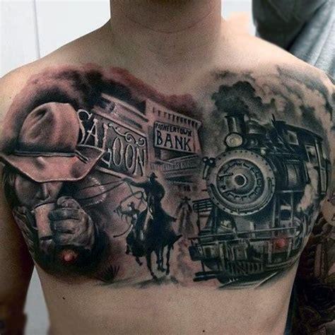 wild west tattoo designs 90 cowboy tattoos for west designs