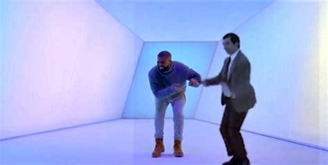Drake Dancing Meme - mr bean dances with drake in viral hotline bling meme