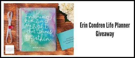 Erin Condren Planner Giveaway - erin condren life planner giveaway